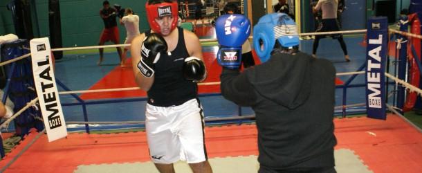 Séance sparring section Boxe Loisir.