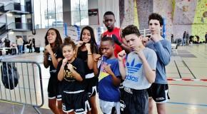 5 champions IDF jeune de kick boxing!