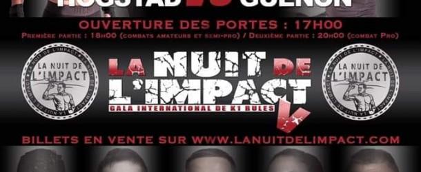 La nuit de l'Impact gala pro de Kick boxing