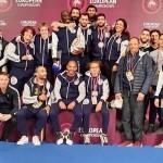 Podium équipe de France à UWW ROME