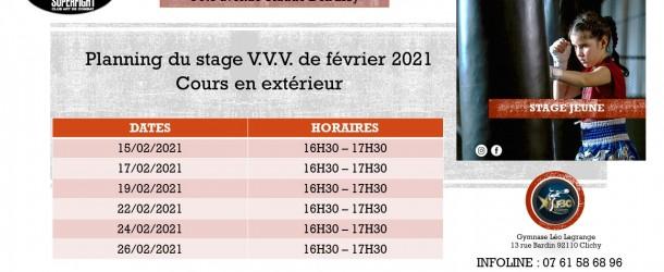 Stage jeunes V.V.V. hiver 2021